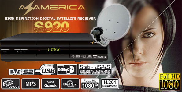 Kit Tv Satelital Az-America s920 full hd